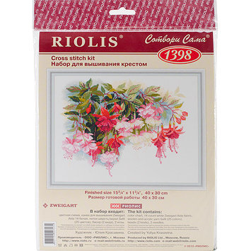 Riolis Fuchsia Counted Cross Stitch Kit-15.75X11.75 14 Count
