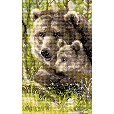 Riolis Bear With Cub Counted Cross Stitch Kit-8.75