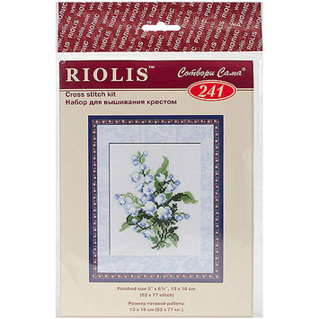 Lily Of The Valley Counted Cross Stitch Kit-5X6.25 16 Count 274929 RIOLIS