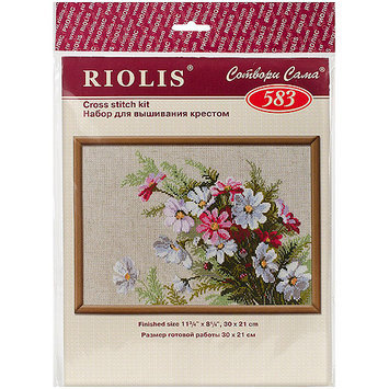 Cosmos Counted Cross Stitch Kit-11.75X8.25 15 Count 274930 RIOLIS