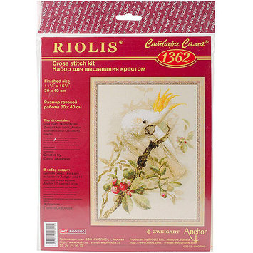 Riolis White Cockatoo Counted Cross Stitch Kit-11.75