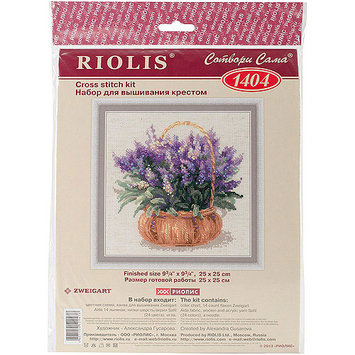 French Lavender Counted Cross Stitch Kit-9.75X9.75 14 Count 275248 RIOLIS