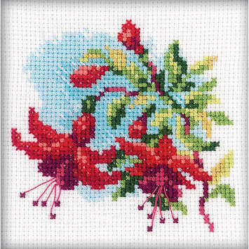 Rto Fuchsia Counted Cross Stitch Kit-4X4 14 Count