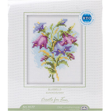 Rto Bluebells Counted Cross Stitch Kit-4X4 14 Count