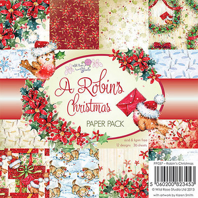 Wild Rose Studio 6X6PAPPK-PP023 6 in. x 6 in. Paper Pack 36-Sheets-Letters From Paris