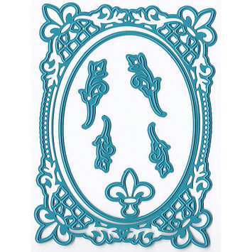 Ecstasy Crafts JC20254 Joy! Crafts Cut & Emboss Die -French Lily Oval 3.125X4.25