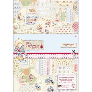 docrafts TI169100 Tilly Daydream Ultimate Die-Cut & Paper Pack A4-48-Sheets