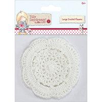 docrafts TI368101 Tilly Daydream Crochet Doily Flowers 2-Pkg