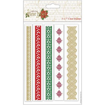 docrafts PM907913 Papermania First Noel Clear Stamps 5 in. X7 in. -Borders