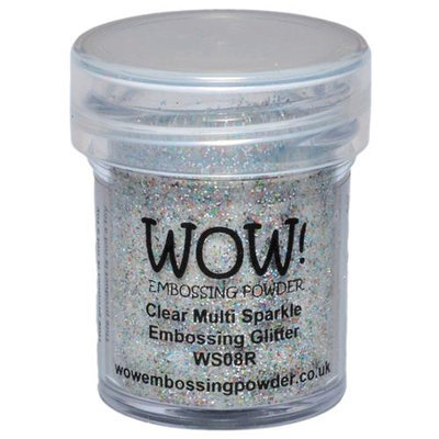 Wow Embossing Powder WOW-WS08R 15ml-Clear Multi Sparkle