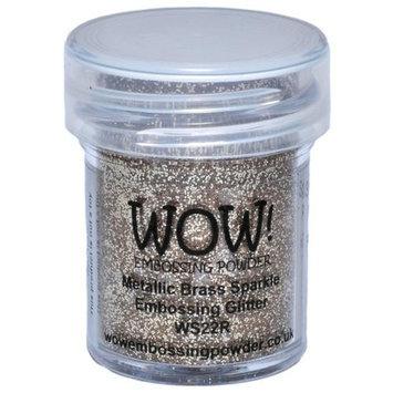 Wow Embossing Powder WOW-WS22R 15ml-Metallic Brass Sparkle