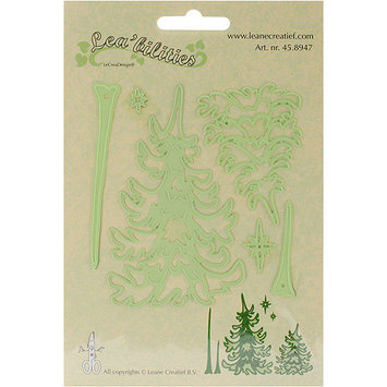 Ecstasy Crafts LC458947 Leabilities Cut & Emboss Dies-Pine Trees .5 in. To 4 in.