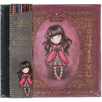 docrafts GO101101 Simply Gorjuss Postbound Album 12 in. x 12 in-W-10 Page Protectors & Extension Posts