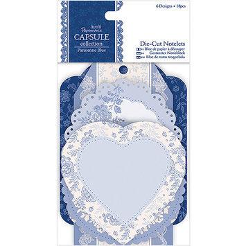 docrafts PM157218 Papermania Parisienne Blue Die-Cut Notelets 18-Pkg