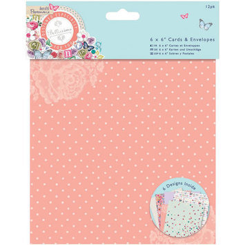 docrafts Papermania Bellissima Foiled Cards with Envelopes, 6 by 6 324200 DOCrafts
