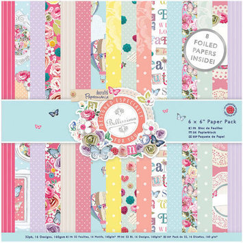 docrafts Papermania Paper Pack, 6 by 6, French Lavender 325994 DOCrafts
