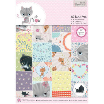docrafts Papermania A5 Paper Pack, 4 Little Meow 324250 DOCrafts