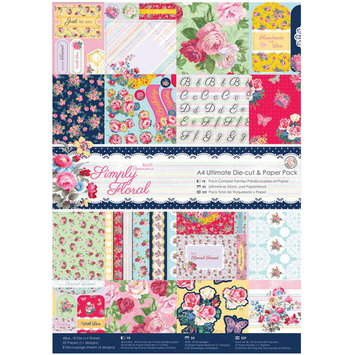 docrafts Papermania Simply Floral Ultimate Die-Cut Paper Pack 324515 DOCrafts