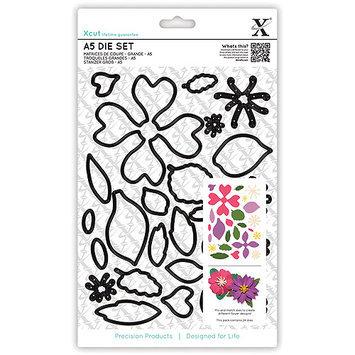 docrafts XC503195 Xcut A5 Die Set 24-Pkg-Flowers
