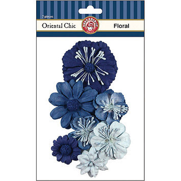 Ruby Rock-It Oriental Chic Paper Florals, 7-Pack 341179