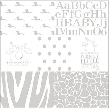 Ruby Rock-It EB0410 Empire Bebe Glittered Transparency Overlay 12 in. X12 in. - - 10 Sheets