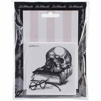 LaBlanche LB1427 LaBlanche Silicone Stamp 3 in. X3 in. -Skull & Book