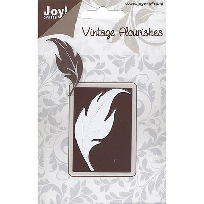 Ecstasy Crafts Joy! Crafts Cutting Die-Vintage Flourishes/Curved Leaf 2.5