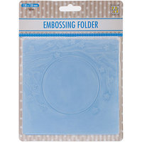 Ecstasy Crafts EFE005 Nellies Choice Spring In The Air Embossing Folder 5 in. x 5 in-Square Frame with Round Opening