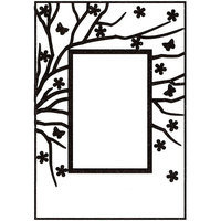 Ecstasy Crafts Nellie's Choice Spring In The Air Embossing Folder 4inX6in-Rectangle Frame W/Rectangle Opening