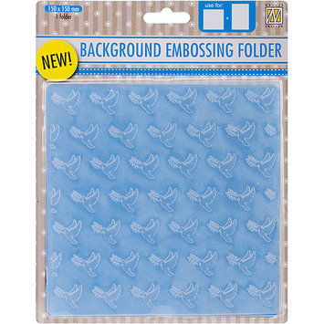 Ecstasy Crafts EEB002 Nellies Choice Background Embossing Folder 6 in. x 6 in-Condolence