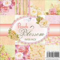 Wild Rose Studio 6X6PAPPK-PP039 Wild Rose Studio Ltd. 6 in. X6 in. Paper Pack 36-Sheets-Peach Blossom