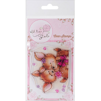 Wild Rose Studio WRSCL374 Wild Rose Studio Ltd. Clear Stamp 3.5 in. x 3 in. Sheet-Bluebell with Friend