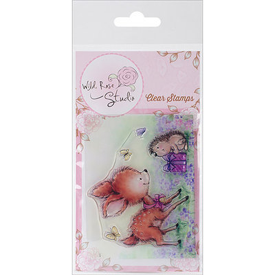 Wild Rose Studio WRSCL376 Wild Rose Studio Ltd. Clear Stamp 3.5 in. x 3 in. Sheet-Bluebell with Hedgehog