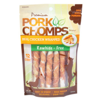 Pork Chomps Premium Rawhide-Free Dog Treats
