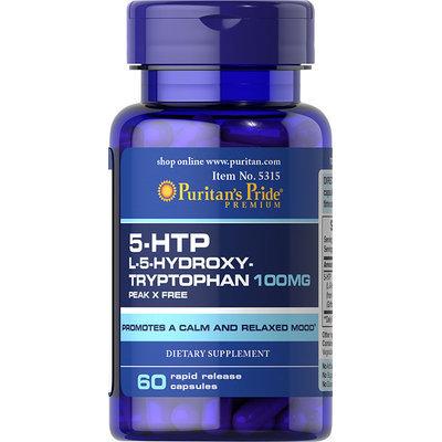 Puritan's Pride 5-HTP 100 mg (Griffonia Simplicifolia)-60 Capsules