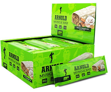 Arnold By Musclepharm Muscle Bar Frosted Cinnamon Bun - 12 Bars