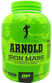 Arnold By Musclepharm Iron Mass Banana Cream - 5 LBS
