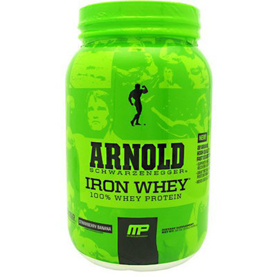 Arnold By Musclepharm Iron Whey Strawberry Banana - 2 lb (908g)