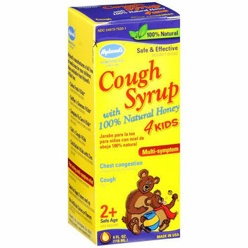 Hyland's : W/100% Natural Honey 4 Kids Multi-Symptom Chest Congestion/Cough Cough Syrup