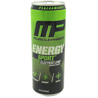 Muscle Pharm 4820165 12 oz. Energy Sport Drink Lime 12 Per Case