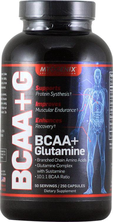 Myogenix BCAA+G (BCAA + Glutamine) 250 ct