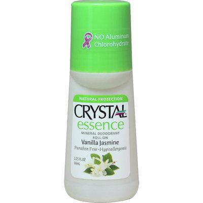Crystal Body Deodorant - Crystal Essence Mineral Deodorant Roll On Vanilla Jasmine - 2.25 oz.