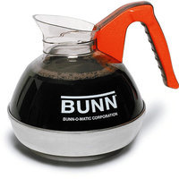 12-Cup Coffee Carafe for Pour-O-Matic Bunn Coffee Makers, Orange Handle