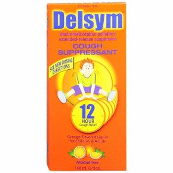 Delsym 12 Hour Cough Suppressant Liquid Orange Flavored Liquid