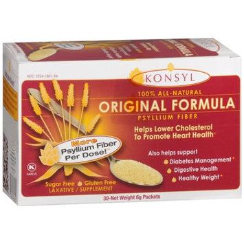 Konsyl Original Formula Psyllium Fiber, Packets, 30 ea