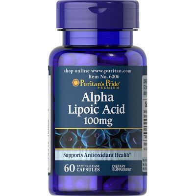 Puritan's Pride 2 Units of Alpha Lipoic Acid 100 mg-60-Capsules
