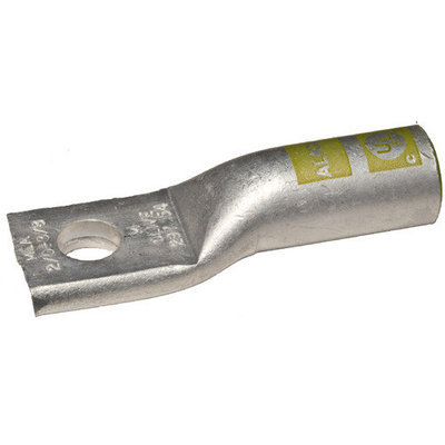 Morris Products MLA750-5/8 Aluminum Long Barrel One Hole Compression Lugs in Yellow