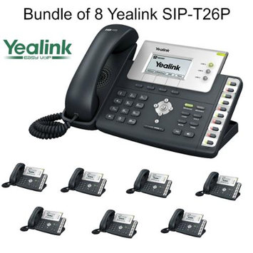 Yealink SIP-T22P Bundle of 8 Professional VoIP Phone, POE, No Power Supply