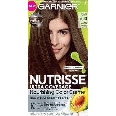 Garnier Nutrisse Ultra Coverage: Glazed Walnut, Deep Medium Natural Brown