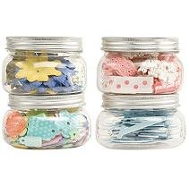 Making Memories Storage Jars Medium 4/Pkg - 4